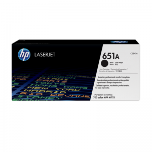 HP 651A Black Original LaserJet Toner Cartridge (CE340A)